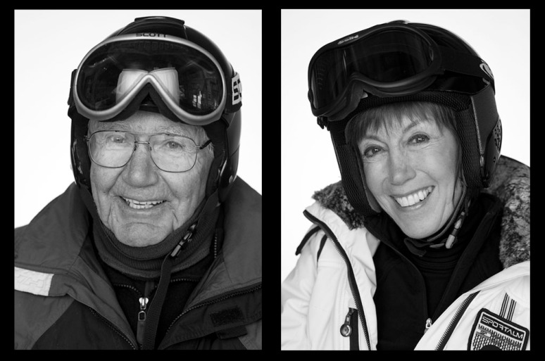 Bill, left, has been skiing for 40 years; Ingrid, is also a veteran skier.