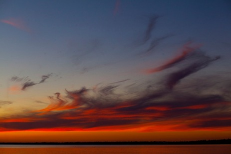 Colourful sunset over Lake Erie.