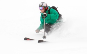 LOUIS-PIERRE HELIE POWERS THROUGH POWDER SNOW