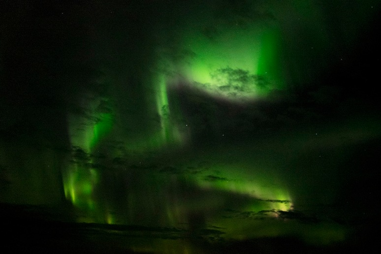 THE NORTHERN LIGHTS FROM A ROLLING CRUISE SHIP